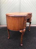 Antique Walnut & Burr Walnut Kidney Shaped Desk (6 of 13)