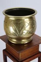 Antique Arts & Crafts Brass Planter / Jardinière (2 of 13)