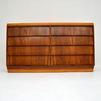 1950's Vintage Walnut & Satin Birch Chest of Drawers (3 of 11)
