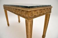 French Giltwood Marble Top Coffee Table c.1930 (8 of 8)