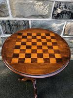 Antique Inlaid Walnut Tripod Games Table (7 of 7)