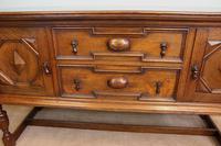 Antique Oak Sideboard Dresser Base (7 of 13)