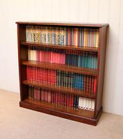 Edwardian Mahogany Open Bookcase c.1910 (10 of 11)