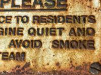 Large Heavy Rusted Cast Iron Railway Plaque Sign Train Notice (11 of 25)