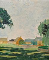 Exquisite Original Early 20th Century Impressionist Farmland Landscape Oil Painting (5 of 12)