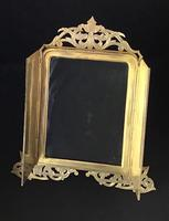 Gothic Revival Brass Two Door Easel Photo Frame (3 of 6)