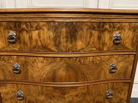 Re Finished Burr Walnut Serpentine Chest of Drawers (9 of 10)