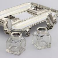 Quality Silver Inkstand with Twin Inkbottles by Elkington & Co. 1898 (9 of 12)