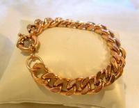 "Victorian Rose Copper Bracelet 1890s Senorita Clasp 8"" Length 46.6 Grams"