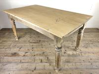 Antique Pine Farmhouse Style Kitchen Table (13 of 13)