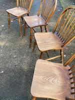 Set of Four Early 20thc Ash & Beach Kitchen Chairs (5 of 6)