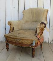 Pair of French Tub Armchairs for re-upholstery (4 of 9)