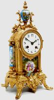 Wow! French Blue Sevres Mantel Clock 8 Day Striking Mantle Clock (12 of 12)