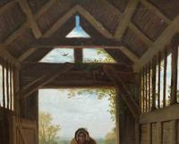 'Sunday Morning' An Enchanting Original 19thc Portrait Oil Painting' (8 of 14)