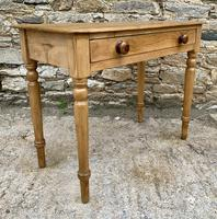 Antique Pine Side Table with Drawer (13 of 14)