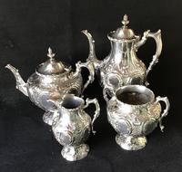 Outstanding Mid Victorian Silver Plated 4 Piece Tea Service (2 of 7)
