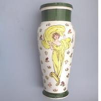 Margaret E Thomson : Royal Doulton Lambeth Faience Vase Mucha Style C.1900 (2 of 10)