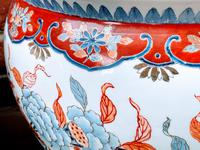 Large Late 19th Century Imari Guangxu Porcelain Fish Bowl (8 of 8)