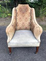 Antique English Upholstered Armchair (3 of 7)