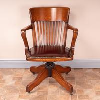 Good Quality Oak Revolving Office Desk Chair (2 of 14)