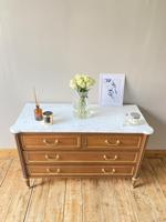 French Marble Drawers / Louis XVI Style Commode / Directoire (3 of 7)