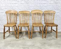 Set of 4 Golden Coloured Lathback Kitchen Chairs (2 of 5)