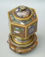 Japanese Cloisonne Lidded Vase on Hardwood Stand (5 of 7)