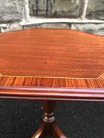 Antique Mahogany Tripod Wine Table Inlaid (4 of 5)