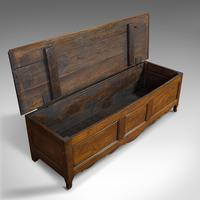Large Antique Coffer, French, Chestnut, Window Seat, Linen Chest, Georgian, 1800 (7 of 12)