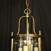 French Gilded Bronze Triple Light Convex Lantern (4 of 10)