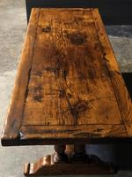 Wonderful French Chestnut Farmhouse Refectory Dining Table (13 of 37)