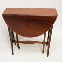 Edwardian  Inlaid Mahogany  Oval Sutherland Table (8 of 13)