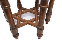 Damascan Side Table Octagonal Arabic Interiors Inlay (10 of 10)