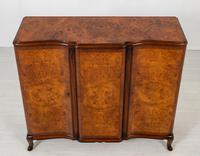 Stunning Burr Walnut 3 Door Side Cabinet (4 of 9)