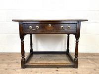 Antique Georgian Oak Side Table (2 of 10)