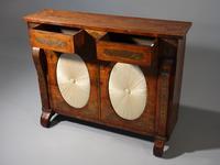 Very Fine Quality Slender Regency Brass Inlaid Side Cabinet (2 of 5)