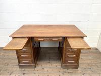 Antique Oak Pedestal Desk (7 of 10)