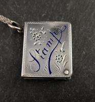 Victorian Silver Stamp Case Pendant (10 of 11)