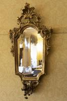 Italian Carved Giltwood Wall Mirrors with candle-holders (2 of 4)