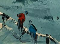 George Richard Deakins Superb Winter Landscape Oil Painting (3 of 11)