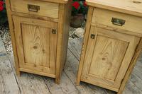 Fantastic & Large Pair of Old Stripped Pine Bedside Cabinets - We Deliver! (2 of 9)