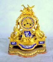 Fine Ormolu Porcelain Cherub Mantle Clock (8 of 10)