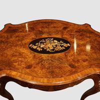 Victorian Inlaid Walnut Centre Table with Drawer (8 of 9)