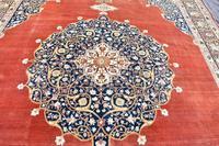 Antique Tabriz roomsize carpet 397x302cm (8 of 8)