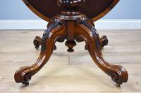 Victorian Burr Walnut Oval Tilt Top Breakfast Table (5 of 7)