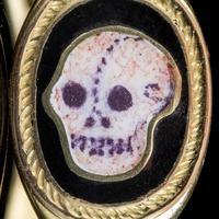Antique Edwardian Memento Mori Skull Signet Ring 18ct Gold Dated 1902 (6 of 8)