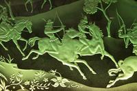 Magnificent Art Deco Illuminated Etched & Engraved Very Large Glass Wall Decoration (3 of 13)