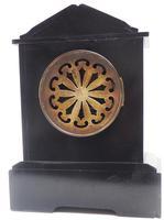 Good Slate & Marble Mantel Clock 8 Day Striking Mantle Clock (5 of 9)