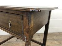Antique Oak Side Table(m-2250) (6 of 9)