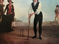 Large Fine Quality Vintage Cricket Cricketing Print - 18thc Georgian Manner (6 of 13)